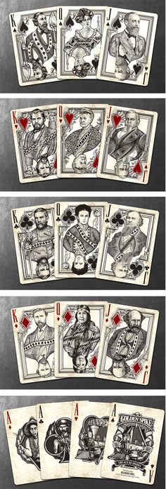 Golden Spike Bicycle® Playing Cards by Jody Eklund — Kickstarter.  ONLY 2 DAYS LEFT TO GET YOUR DECKS HERE!
