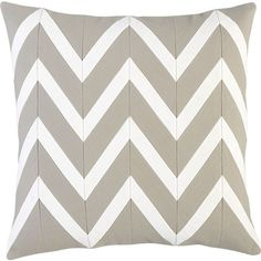 "Chevron Off-White 18"" Pillow /guest?"