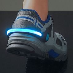 Put these LED lights on your shoes and you will be visible to anyone as you run or walk.  Multiple colors to match any shoe, these lights are perfect for anyone looking to be safe while they run.  Light up your next workout.
