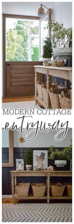 Fresh and easy, modern cottage entryway update! Simple DIY board and batten + affordable home decor, from Better Homes & Gardens at Walmart create a welcoming home entry and first impression.   For details & sources, visit www.foxhollowcottage.com   #Sponsored in collaboration with Better Homes & Gardens at Walmart Cottage Entryway, Easy Diy, Simple Diy, Modern Cottage, Cottage Style Homes, Board And Batten, Farmhouse Decor, Cottage Farmhouse, Affordable Home Decor
