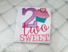 Two Sweet/ Birthday Shirt/ 2nd Birthday Perfect for