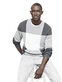 Adam Lippes for Target crewneck sweater on model