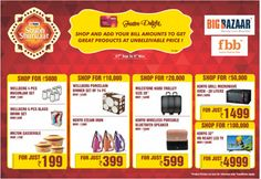 Begin With A Shubh Shuruaat Of Your Diwali Shopping With Big Bazaar And Avail Exciting Offers. #shopping #diwali #festiveseason #greatindiaplace #bigbazaar