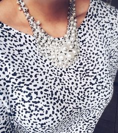 Yvette chunky pearl statement necklace Pearl Statement Necklace, Pearls, Beads, Beading, Pearl