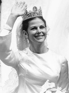 royaltyspeaking:  Queen Silvia of Sweden, 1976