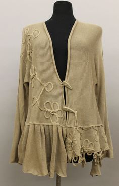 Zuza Bart lovely linen knit and gauze cardigan in a style I come back to again and again.