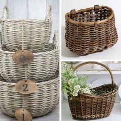 7 tipologías de Cestas diferentes y bonitas para tu boda. Y de regalo un patrón para que hagas tu propia cesta de trapillo.