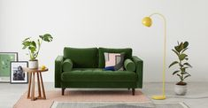 Jak staande lamp, chartreusegeel   MADE.com Furniture Sale, Furniture Design, Tripod Lampe, Annex Ideas, Free Standing Lamps, Camas King, Lighting Sale, Bunt, Love Seat