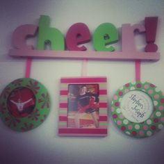 """Have a cheerleader in your life? How about this cute """"Cheer"""" frame as a gift? $22.00"""