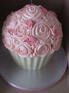 Giant Pink Cupcake on Cake Central