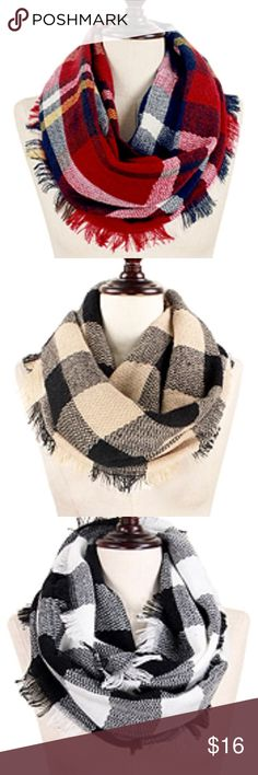 Infinity Plaid Scarf Super cute colors & design, brand new! Accessories Scarves & Wraps