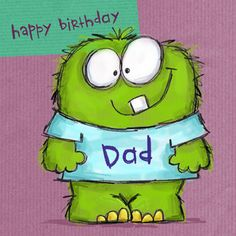 monstruo Cute Images, Cute Pictures, Happy Bday Dad, Dragons, Card Machine, Monster Characters, Children's Picture Books, Birthday Images, Cute Illustration