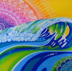 Mandala Sunrise by melissa hood. posca marker #posca #mandala #sunset #painting