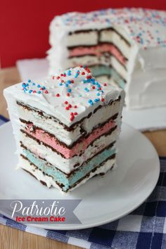 Patriotic Ice Cream Cake