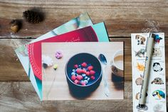 postcard set of nostalgic food photographs, set of cards, apartment home kitchen dorm decor, stationery gift set
