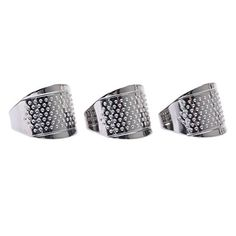 Dophee 3Pcs Adjustable Sliver Ring Stitch Finger Thimble Sewing DIY Craft Handmade Tool ** Details can be found by clicking on the image.