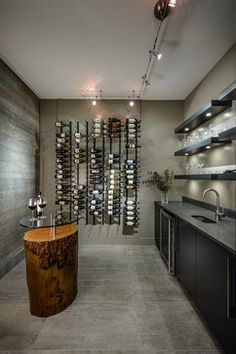 Estuary - Anya Lane contemporary-wine-cellar