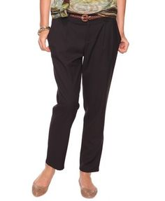 Trouser Capri Pants w/Belt - StyleSays