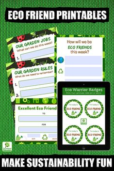 This colourful printable pack comes in PDF format and is one way for early years teachers and educators to introduce active learning opportunities to help children develop a respect and understanding for the world around them. Help them to become caring Eco friends and warriors! With a focus on outdoor learning and play the printables can be used for both individual and group experiences. Also meets EYLF outcomes.