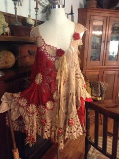 Luv Lucy Crochet Dress Lucy Luvs Red Roses.....LOVE this!!
