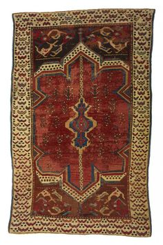 Small Medallion Carpet With Red Ground And Cintamani Border Late 17th 18th