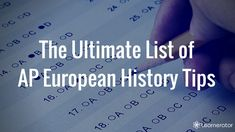 The AP European History test is hard. Here are 50+ AP European History tips for tackling DBQs and the multiple choice so you get a 5 on AP European History.