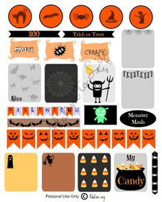 Halloween Planner Stickers and Free Printables -