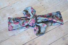 Denim Floral Knot Headband by DimpledCutieCreation on Etsy