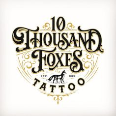 """2,482 Likes, 52 Comments - Tobias Saul (@tobiassaul) on Instagram: """"Here is the final logotype for @10thousandfoxestattoo ✨"""""""