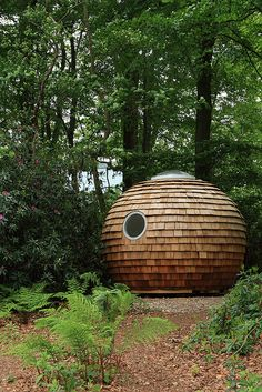 Pod in the Woods, Lancaster University // Roof Dome, Lancaster University, University Dorms, Building Costs, Institute Of Contemporary Art, Western Red Cedar, Garden Office, Cozy House, Places To Go