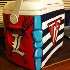 Painted cooler.