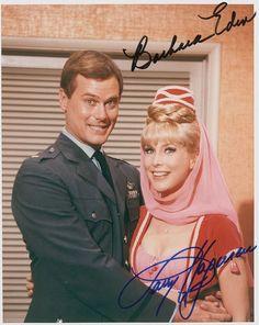 I Dream of Jennie TV Sitcom and Cast Autograph.