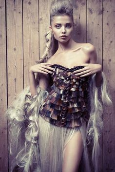 Avant-Garde Hair: Swiss Hairstylist Pablo Kümin's 2013 dress collection made of Balmain Hair is amazing …