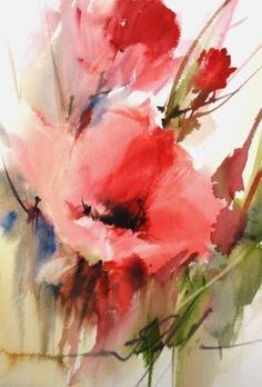 Poppies #watercolor jd