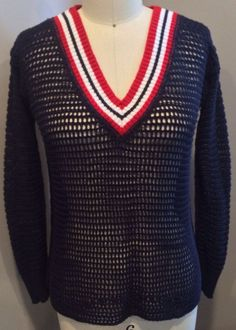 Women's Sweater We The Free Size XS Navy Open Stitch Sweater! Free People, EUC! #FreePeople #vneck