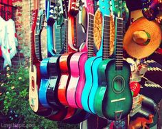 vintage guitar girly photography