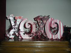 XOXO for Valentine's Day Decorations.  Made with SEI paper With All My Heart