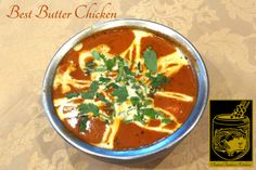 Butter Chicken ~ Pieces of chicken marinated in a special sauce, cooked in garlic, ginger, cream and fresh tomatoes at Original Tandoori Kitchens Best Butter, Indian Food Recipes, Ethnic Recipes, Marinated Chicken, Butter Chicken, Tomatoes, Garlic, Curry, Kitchens