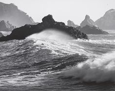 Ansel Adams: Waves, Dillon Beach, California 1964 (Courtesy Center for Creative Photography, ©2012 The Ansel Adams Publishing Rights Trust)