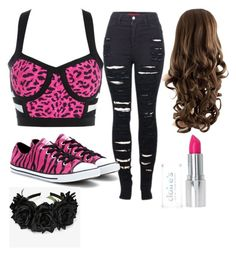 """""""Wassup polyvore / kya """" by flawlesssisters ❤ liked on Polyvore featuring 2LUV, Converse and Posh Girl"""