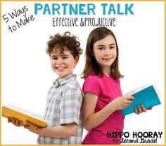 Tips & strategies for improving partner talk in the classroom. Partner talk promotes oral language development, student engagement, and deepens understanding of the content. Classroom Routines, Classroom Management Tips, Class Management, Behavior Management, Primary Classroom, Classroom Resources, Teacher Resources, Classroom Ideas, Teaching Second Grade
