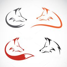 Vector image of an fox design by yod67 on @creativework247