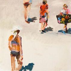 "Daily+Paintworks+-+""Beach+Trekking""+-+Original+Fine+Art+for+Sale+-+©+Randall+Cogburn"