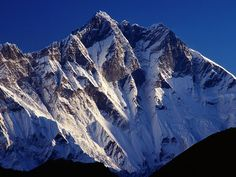 The peak of Mount Lhotse