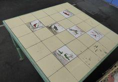 Belle table gibier chasse vintage meuble métier tiroir carrée 96 x 96 cm 1930   eBay