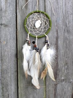 Car Dream Catcher Small Dreamcatcher Green with by VagaBoundPeople, $15.50