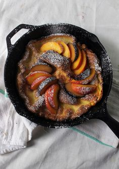 """""""Dutch Baby w/Peaches & Black Plums Forever Company, Best Sweets, Types Of Fruit, Vegetable Recipes, Baking, Ethnic Recipes, Positive Feedback, Desserts, Homemade Food"""
