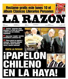 Primer día de alegatos. Chile - 06.12.12 (La Razón - Perú - 07.12.12). #LaHaya #Peru #Chile