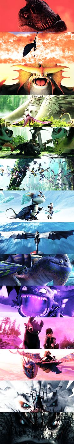Dragons from HTTYD + colors by klngfili on Tumblr #HTTYD