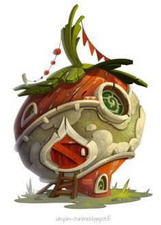 ArtStation - Strawberry house, Charlène Le Scanff (AKA Catell-Ruz)